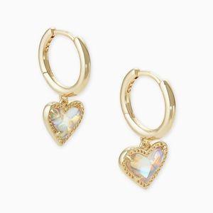 Kendra Scott Heart Huggie Earrings
